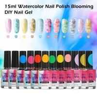 12 Colors/set 15ml Watercolor Nail Polish Blooming DIY Nail Gel Manicure Decor Salon Set Bubble Varnish Manicure Accessories