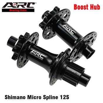 цена на ARC Boost Hub CNC Maching 15x110 12x148 Disc MTB Hub 32H Bicycle Hub Micro Spline 12S Shimano Freehub Mountain Bike Accessories