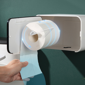 Image 4 - Waterproof Toilet Paper Holder Wall Mounted Toilet Tissue Dispenser Plastic Multi function Portable Toilet Roll Holder Stand