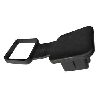 Uniwersalny zamiennik samochodu 2 Cal odbiorniki Protector trwała wkładka hak przyczepy pokrywa czarny kapturek dla wtyczek Tow guma pyłoszczelna tanie i dobre opinie CN (pochodzenie) Trailer Hitch Cover Rubber 0 118kg 7 5m Black Towing Bars