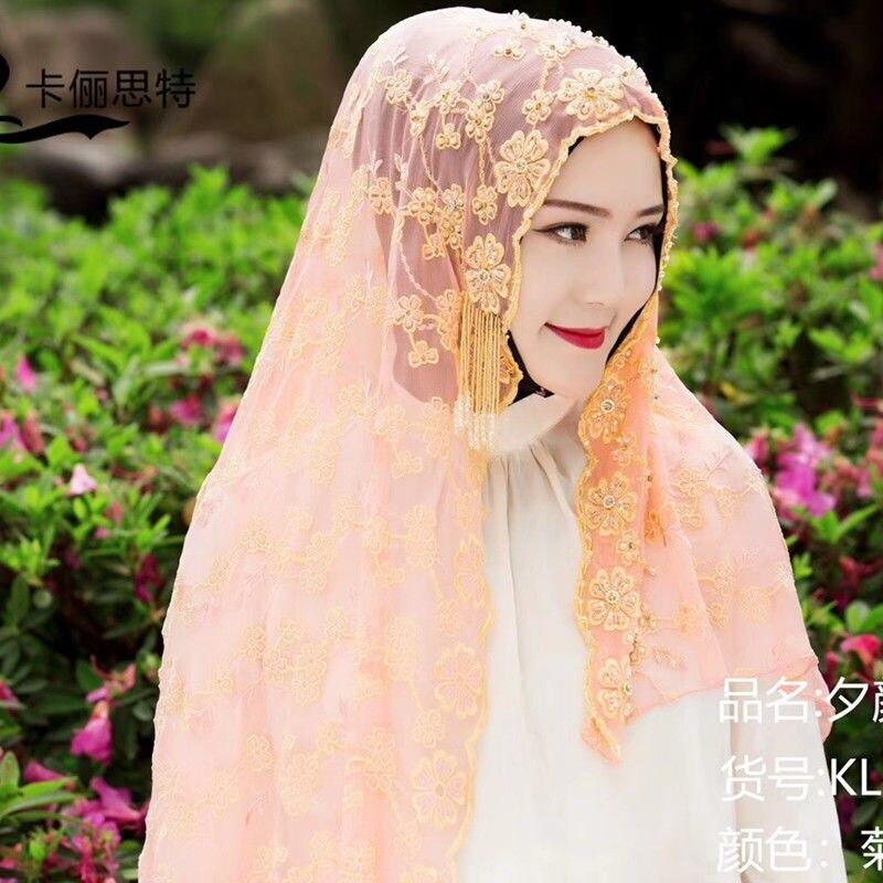 2019 Dubai design haute classique femmes musulmanes mode hijab en soie - 3