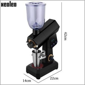 Image 2 - XEOLEO 400 جرام اسبريسو مطحنة القهوة مطحنة بن كهربائية كمية ثابتة آلة طحن القهوة طاحونة المنزلية 110/220 فولت