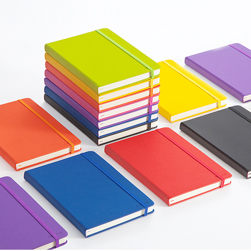122sheets Notebook Thickened A5 Soft Leather Notepad Color Clear Portable Diary Book Writing Pads Planners Office Stationery