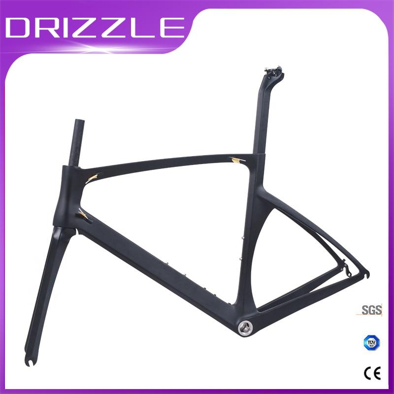 Road Bicycle Frameset V-Brake Carbon Road Cycling Frame Carbon 700c Carbon Bike Frame 49/52/54/56cm Factory Outlet Free Shipping