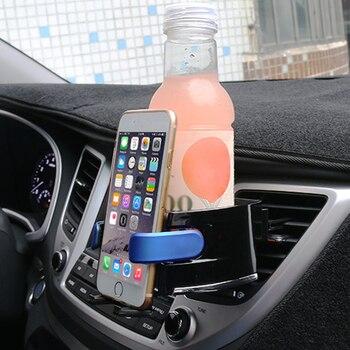 Soporte de almacenamiento de taza de café para el coche soporte de la taza del teléfono soporte de la toma de aire acondicionado de la salida del aire estabiliza el soporte de almacenamiento de la bebida del coche