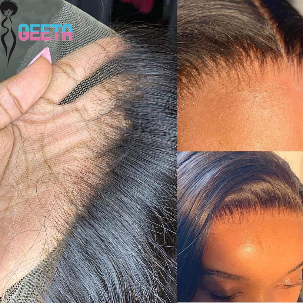Hd Синтетические волосы на кружеве al парик 13x6 Синтетические волосы на кружеве парик человеческих волос 30 дюймов кости прямой прозрачный кру...