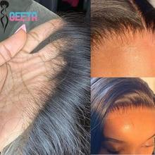 Parrucca frontale in pizzo Hd parrucca anteriore in pizzo 13x6 capelli umani 30 pollici osso dritto trasparente parrucche per capelli umani parrucca di chiusura in pizzo HD 5x5