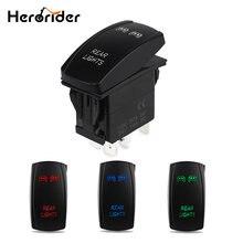 5 контактный лазерный кнопочный клавишный тумблер синий светодиодный