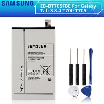 SAMSUNG Original Ersatz Batterie EB-BT705FBC EB-BT705FBE Für Samsung GALAXY Tab S 8,4 T700 T705 Tablet Batterie 4900mAh