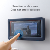 2021 cuarto de baño impermeable de la caja del teléfono a prueba de agua bolsa de bolsa del teléfono móvil teléfono montado sobre la pared estuche protector teléfono del inodoro de soporte