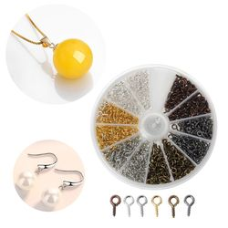 600Pcs 6 Farben Schraube Auge Pins Ösen Schraube Gewinde Haken für Schmuck Machen