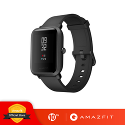 Умные часы Huami Amazfit Bip, Bluetooth, GPS, спортивный монитор сердечного ритма, IP68, водонепроницаемые, напоминания о звонках, приложение MiFit, будильник, ...