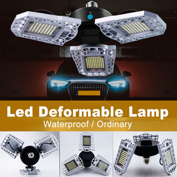 цена на E27 LED Bulb UFO LED Lamp 60W 80W 100W High Bay Light 220V E26 Garage Light LED Bombillas Deformable Factory Industrial Lighting