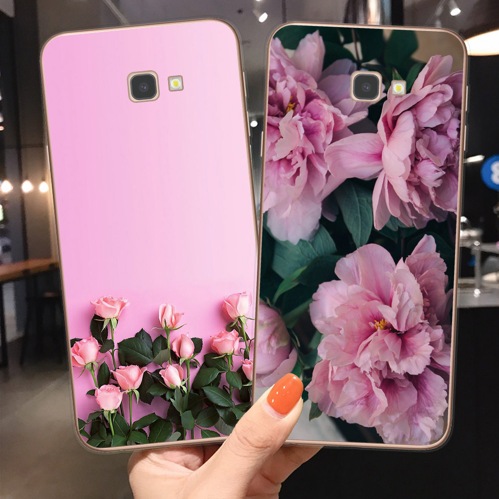 Vintage Flowers Rose Soft TPU phone Cover For <font><b>Coque</b></font> <font><b>Samsung</b></font> J3 J5 J7 2016 2017 J4 <font><b>J6</b></font> <font><b>Plus</b></font> <font><b>2018</b></font> Note 10 Pro Lite A51 A71 Cases sk image