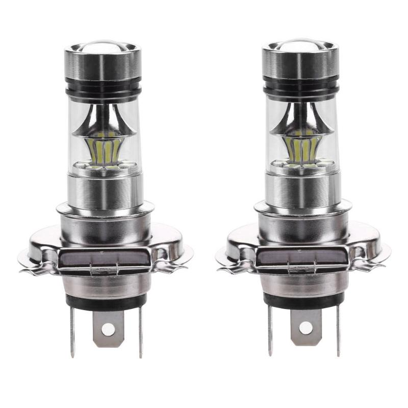 VODOOL 2Pcs H4 100W 2828 20SMD 8000K LED Car Fog Lamp High Power Automobiles Driving Runing Light Auto Fog Lamp Bulb 12-24V