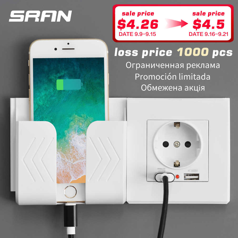 SRAN wall electronic socket eu standard power outlet with dual home usb plug, charger power socket with usb 86mm*86mm