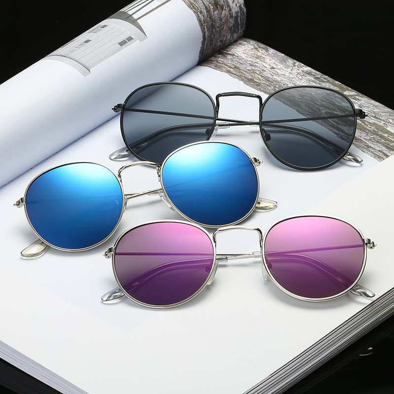Classic Metal Women's Sunglasses Summer UV Protection Black Frame Fashion Adult Eyeglasses