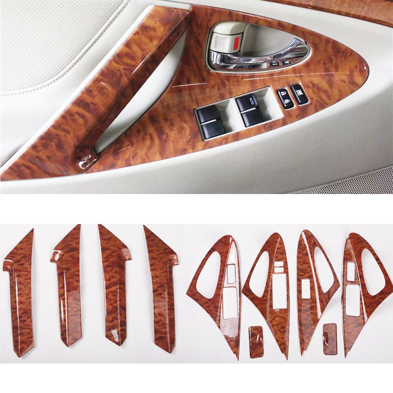 Interior Wooden Color Interior Moulding Trims Panel Frame  For Toyota Camry 2006 2007 2008 2009 2010 2011 Styling Accessory