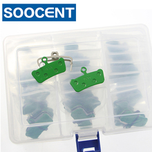 20 pairs MTB Semi-Metal Green Disc Bicycle Brake Pads for Avid XO Trail SRAM X O