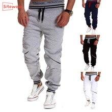 Siteweie 2020 nova sweatpants esportes masculinos casuais rendas-up joggers treinamento calças dos homens de fitness ao ar livre runing baggy calças g527