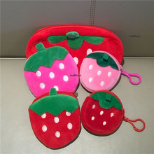 Plush Purse Wallet Coin-Bag Strawberry Girls Children for And Gift Toy Fruit Multi-Shapes