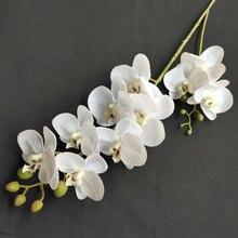 2 вилки 3D6 голова на ощупь реалистичный цветок орхидеи фаленопсис свадебное украшение Рождественская вечеринка домашнее украшение