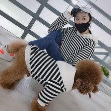 Dogs-Costume Bulldog Labrador Winter Striped Large Autumn for Big