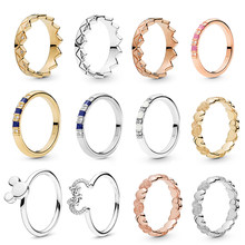 Exotic Stones & Stripes Finger Rings Silve/Gold Crystal Fine Rings For Women Jewelry Anniversary Engagement Gift anillos mujer(China)