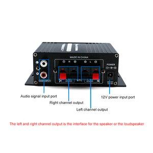 Image 3 - AK170 12V Mini amplificador de Audio para coche, receptor de Audio Digital AMP doble canal 20W + 20W bajo triple Control de volumen para uso en el hogar