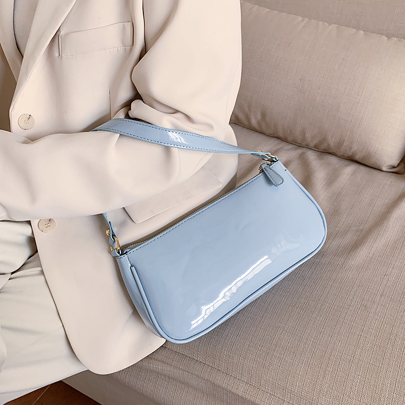 Patent Leather Small Shoulder Bag For Women 2020 Summer Lady Hand Bag Luxury Brand Women Solid Color Handbags And Purses