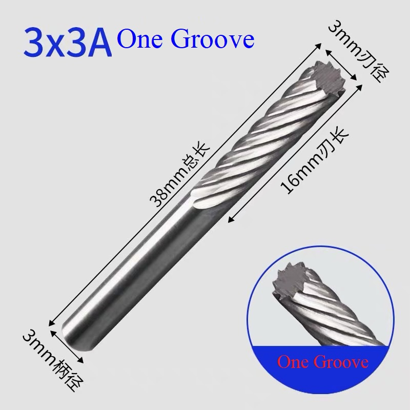 Rotary File 3mm End Mills Carbide Tungsten Burs Tungsten Carbide Drill Bit Engraving Grinding And Chamfering Cutter