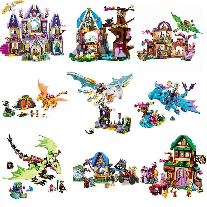 Elves 10549 Elves Dragon Sanctuary Building Bricks Blocks DIY Educational Toys Compatible with <font><b>legoinglys</b></font> Girl Friend <font><b>41178</b></font> image