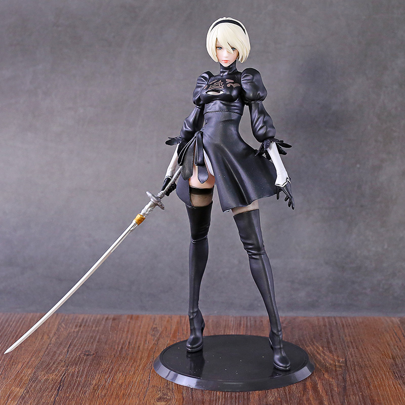 NieR Automata 2B YoRHa No.2 Type B Smll Sword Version PVC Figure Doll Collectible Model Figurine Toy
