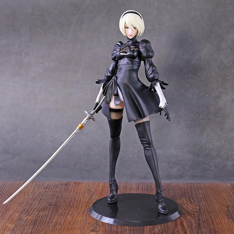 NieR Automata 2B YoRHa No.2 Type B Smll Sword Version PVC Figure Doll Collectible Model Figurine Toy