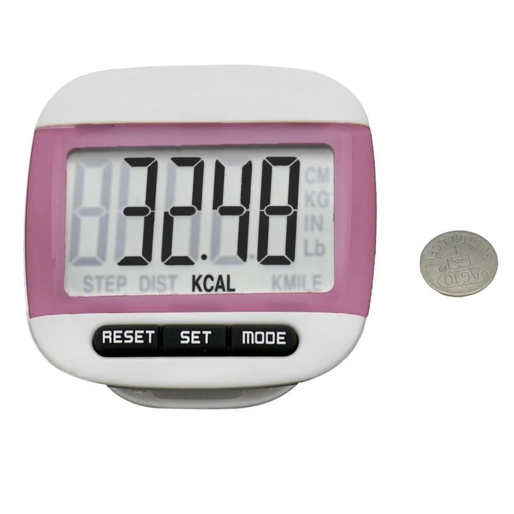 LCD Digital Step Pedometer Walking Calorie Counter Distance Run Belt Clip
