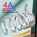 Магнитный шнур 4A, кабель для быстрой зарядки Micro USB Type C, зарядный провод, шнур для синхронизации данных, USB-кабель для iPhone 12, 11, Samsung S20, Xiaomi