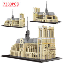 City Mini Diamond – blocs d'architecture du célèbre palais Potala, bricolage, création Notre Dame De Paris, briques De construction, jouet pour enfants, cadeau