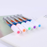 Fast Dry Metallic Color Fluorescent Pens 7 Colors Highlighter Set Drawing Markers DIY Photo Album Graffiti Pens Art Supplies