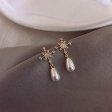 2019 New Arrival Simulated-pearl Trendy Women Dangle Earrings New Style Simple Pearl Earrings Drop Earrings Jewelry Earrings cheap NoEnName_Null Zinc Alloy LJY0223 Water Drop