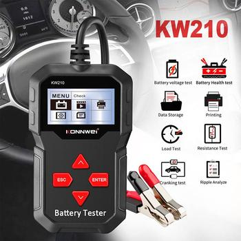 KONNWEI KW210 Car Battery Tester 12V Auto Battery Analyzer 100 to 2000CCA Cranking Code Reader Car Diagnosis Tool konnwei