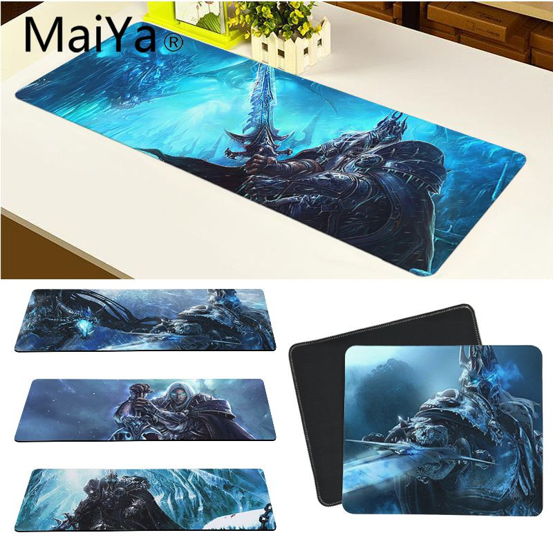 Maiya Top Quality WOW World of Warcraft Arthas Rubber PC Computer <font><b>Gaming</b></font> <font><b>mousepad</b></font> Free Shipping Large <font><b>Mouse</b></font> Pad <font><b>Keyboards</b></font> Mat image