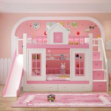 Горячая Распродажа, современный дизайн, стиль, розовая детская двухъярусная кровать