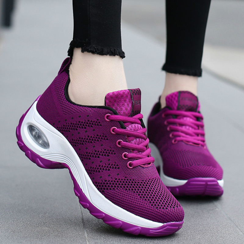 New Air Cushion Women Sneakers Breathable Flat Shoes Women Heighten Casual Ladies Shoes Lightweight Sports Footwear Basket Femme