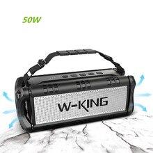 W King D8 Outdoor Bluetooth Speakers 50W High Power Draadloze Subwoofer 360 Surround Sound 10000 Mah Voor Mobiele telefoon U Schijf Spelen