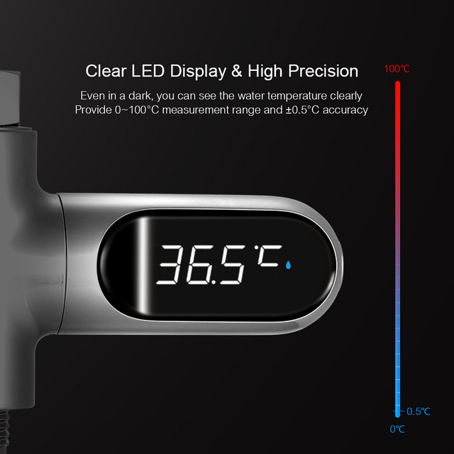 Wasser Thermometer mit LED Display 4