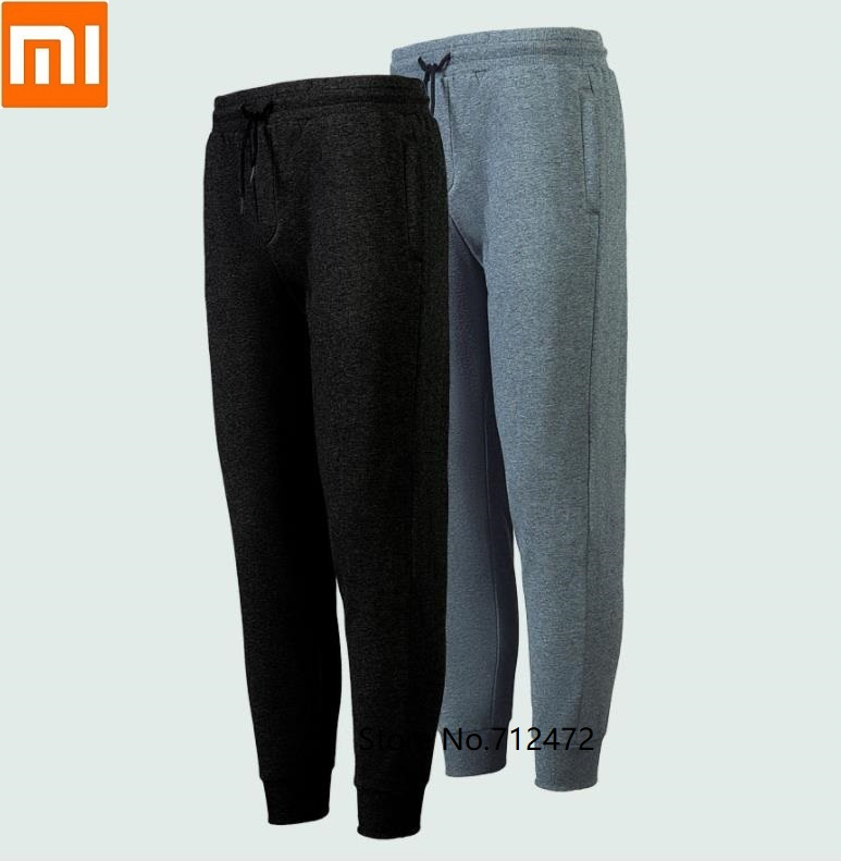 Xiaomi Men Autumn Winter Sports Pants Casual Plus Velvet Warm Jogging Sweatpants Elastic Waist Trousers