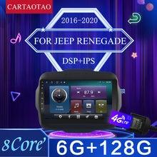 2 din android 9.0 para jeep renegado android rádio do carro de vídeo multimídia player wifi navegação gps carro rádio 2016 2017 2018-2020