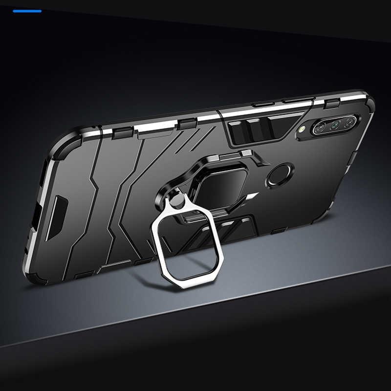 KEYSION עמיד הלם שריון טבעת מחזיק מקרה עבור Huawei Honor 9X פרימיום קשיח מחשב רך TPU היברידי חזרה כיסוי עבור Honor 9X הגלובלי
