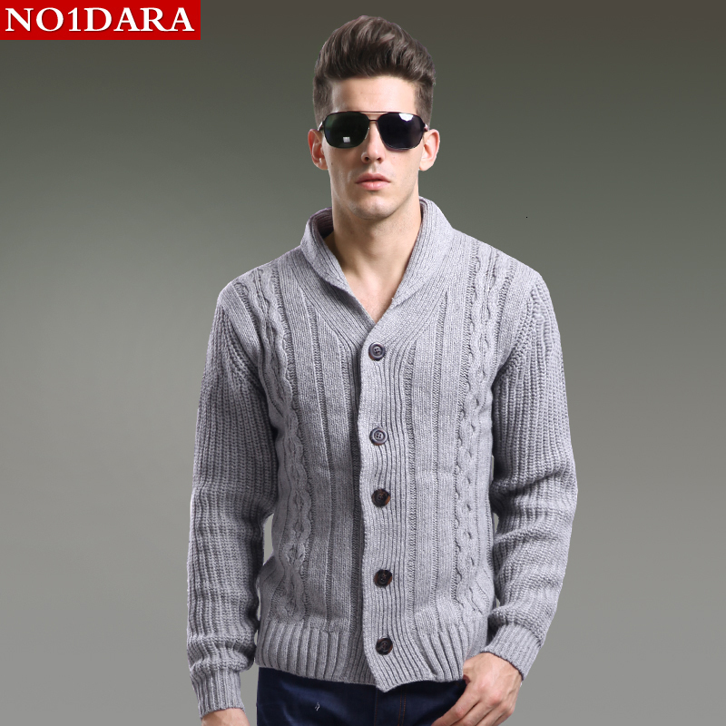 Men's Winter Sweater Fashion Sweaters Men's Cardigan Slim Outerwear Winter Coat
