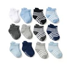 цена на 6pair/lots Winter Baby Socks Cotton Baby Floor Socks Boy Gril Child Short Socks Non-Slip  Baby Socks